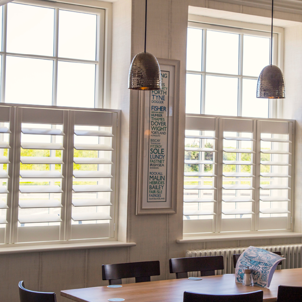 cafe style shutters and blinds