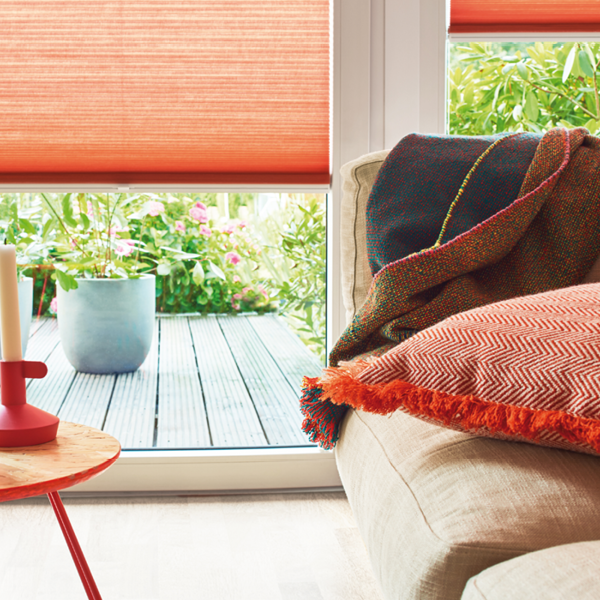 energy saving blinds in warm shades