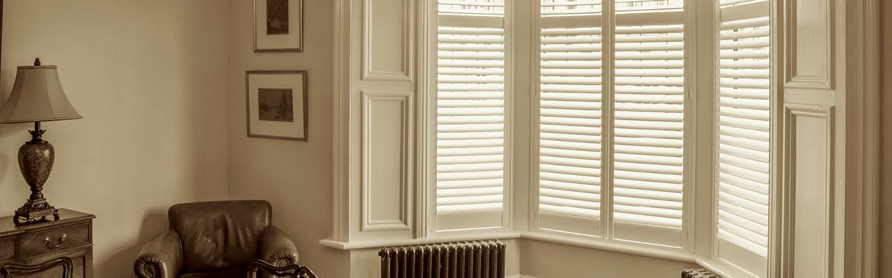 Bay window shutters from Shutterstyle