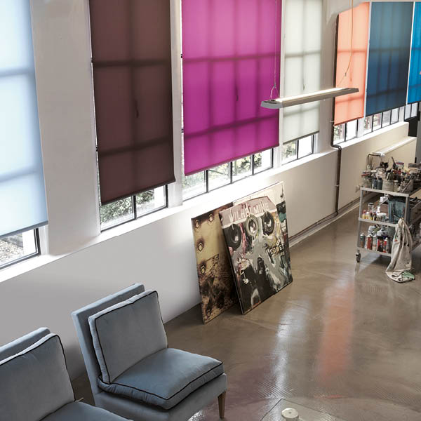 roller blinds in a huge choice of colours and transparencies