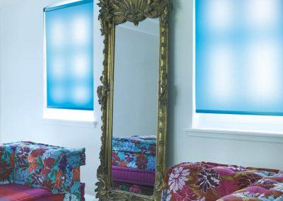 Translucent Blue Roller Blinds