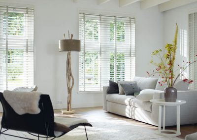 Winter White Wooden Venetian Blind