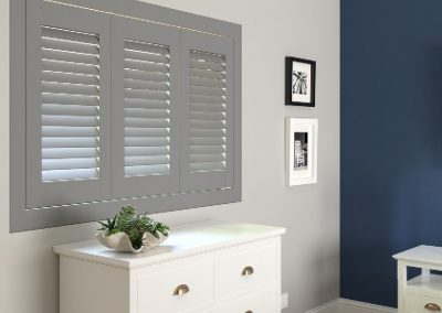 Full Height Shutters in mid-grey